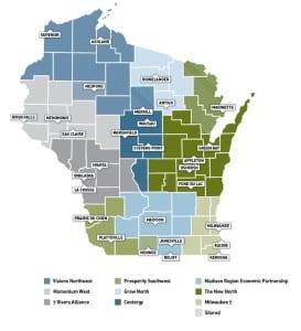 Wisconsin's 9 regions